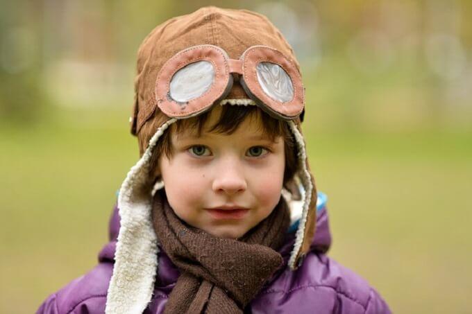 飛行士みたいな少年