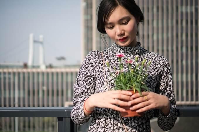アジア人モデル