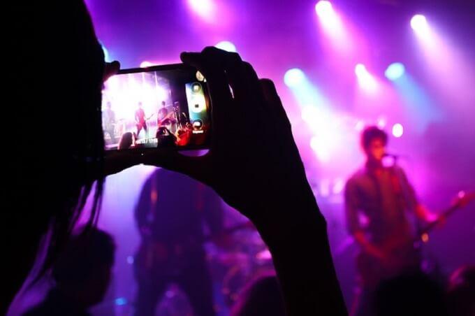 ライブの観客